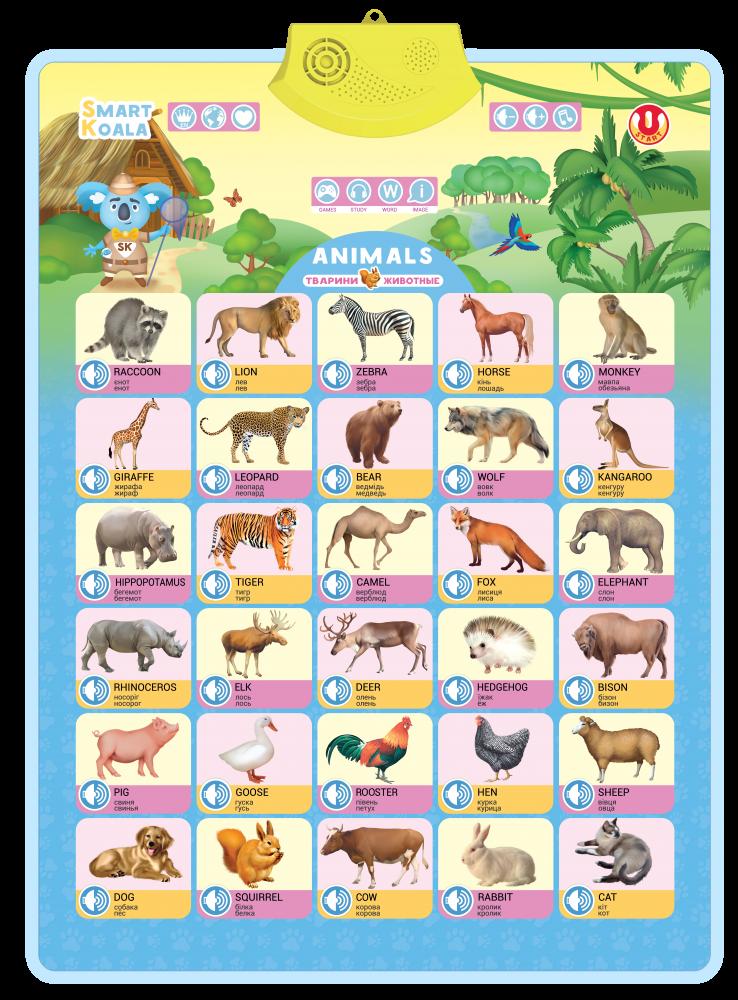 Аудіо постер Дикі тварини